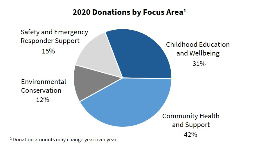 2020 Donations By Focus Area
