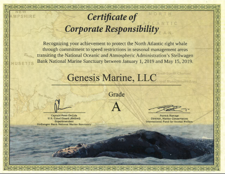 Certificate of Corporate Responsibility
